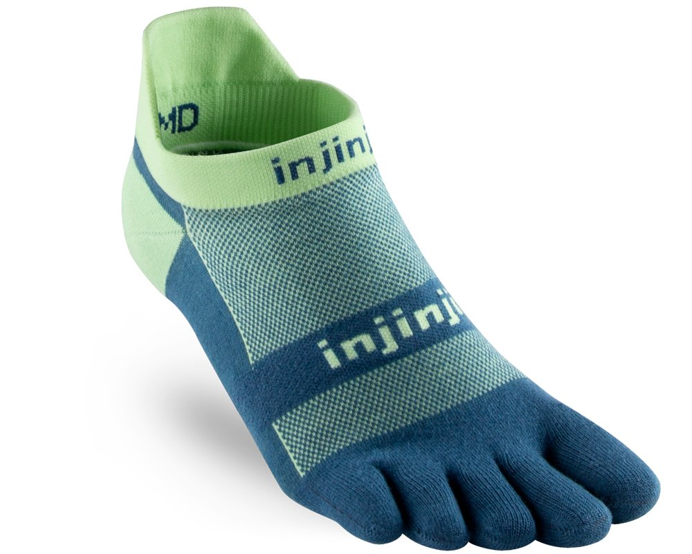 Injinji Run Lightweight No-Show (Large, Seafoam) by Injinji