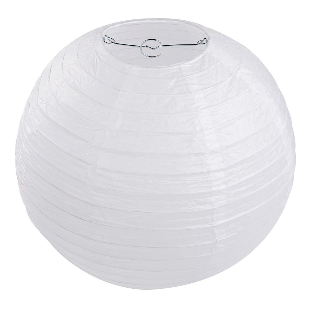 10 x Lampions Papierlaterne weiß (30cm) Letech