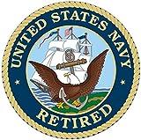 1 Set Apogee Fashionable United States Navy Retired Sticker Sign Vinyl Outdoor Indoor Size 12