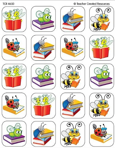 Teacher Created Resources Book Bug Stickers 4650