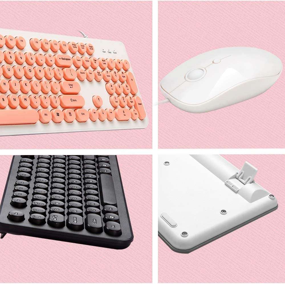 Color : B Notebook Desktop Computer U External SB Interface Feeling Keyboard Wired Home Office Sleek Minimalist Keyboard Yan Fei Keyboard and Mouse Set