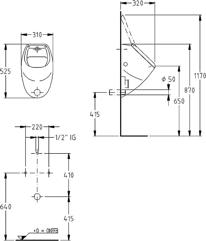2L Anti-Odeur pour Hommes avec Couvercle Mat/ériau ABS /écologique Collecteur durine Portable pour Adulte MNBVC Urinoir