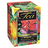 Hibiscus Honey Lemon Tropical Green Tea, All Natural, 20 Teabags, Blended and Packed in Hawaii