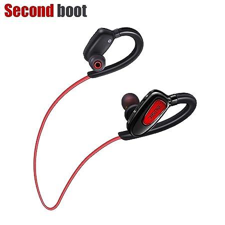 Bluetooth Headphones Wireless Earbuds Sweatproof Sports Headphones HD Stereo in-Ear Noise Canceling Earphones with Mic Headphones Compatible iPhone Samsung Android Smartphone