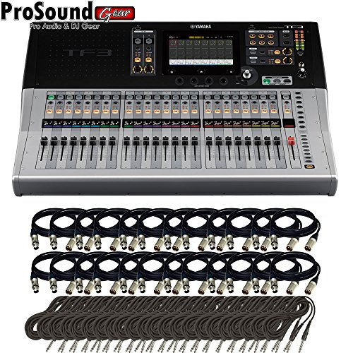 Yamaha TF3 | 24 Channels Digital Mixing Console + Free 24 TRS and XLR cables (ProSoundGear) (Yamaha Consoles Mixing)