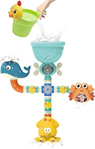 Bath Toys,Bath Toys for Toddlers Waterfall Fill Spin,Bathtub Toys for 2 3 4 Year Old Kids