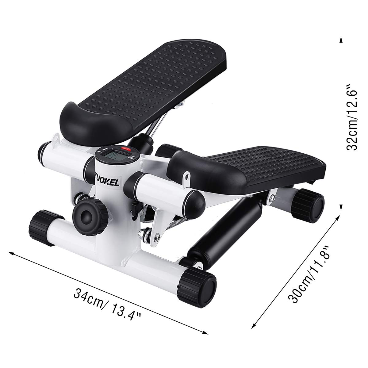 KUOKEL Title Mini Stepper,Mini Fitness Exercise Machine-Mini Elliptical Foot Pedal Stepper, Step Trainer Equipment with Resistance Bands Durable & Safe Treadmill and Comfortable Foot Pedals by KUOKEL (Image #4)