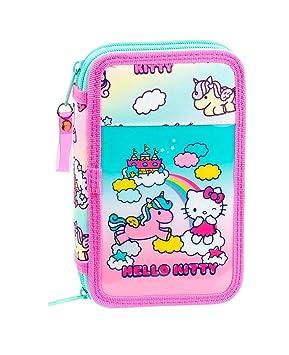Hello Kitty Candy Unicorns Plumier Doble, Estuche con 28 ...