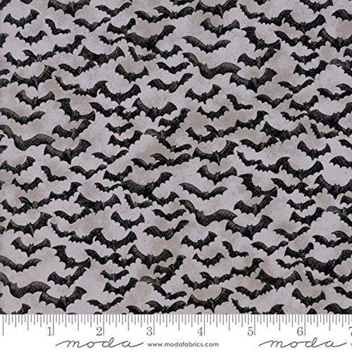 Moda Fabrics Eerily Elegant Halloween by Deb Strain Bat Attack Grey