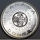 Canada 1964 80% Silver Dollar ($1 One Dollar) - Commemorative Charlottetown, Quebec - Mint State Proof Like Coin - AMAZING GIFT IDEA THAT INCREASES IN VALUE OVER TIME!