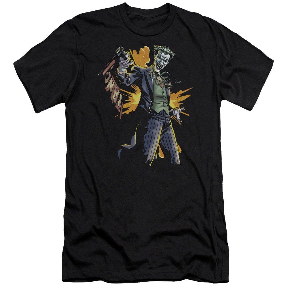 Batman Joker Bang Premium Adult Slim Fit T-Shirt