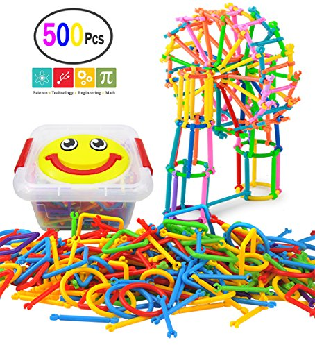 (KOKELI 500 Pcs Building Blocks Toys, A Creative and Educational 3D Puzzle Game, Interlocking Engineering Connecting Toy Set, Best Gift for Boys and Girls!)