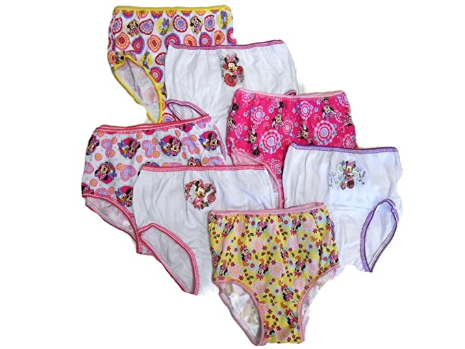 Disney Minnie Mouse niña seven-pack de breve ropa interior