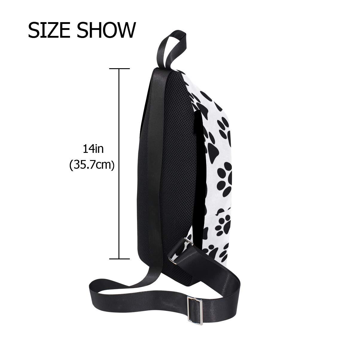 TFONE Cute Animal Paw Print Crossbody Bag Lightweight Chest Shoulder Messenger Pack Backpack Sling Bag