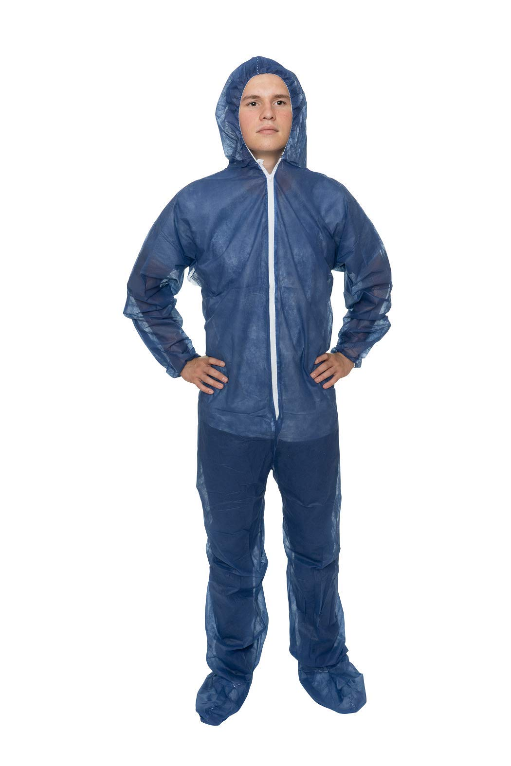 International Enviroguard Disposable Ultra Lightweight Coveralls, Blue (Case Of 25)