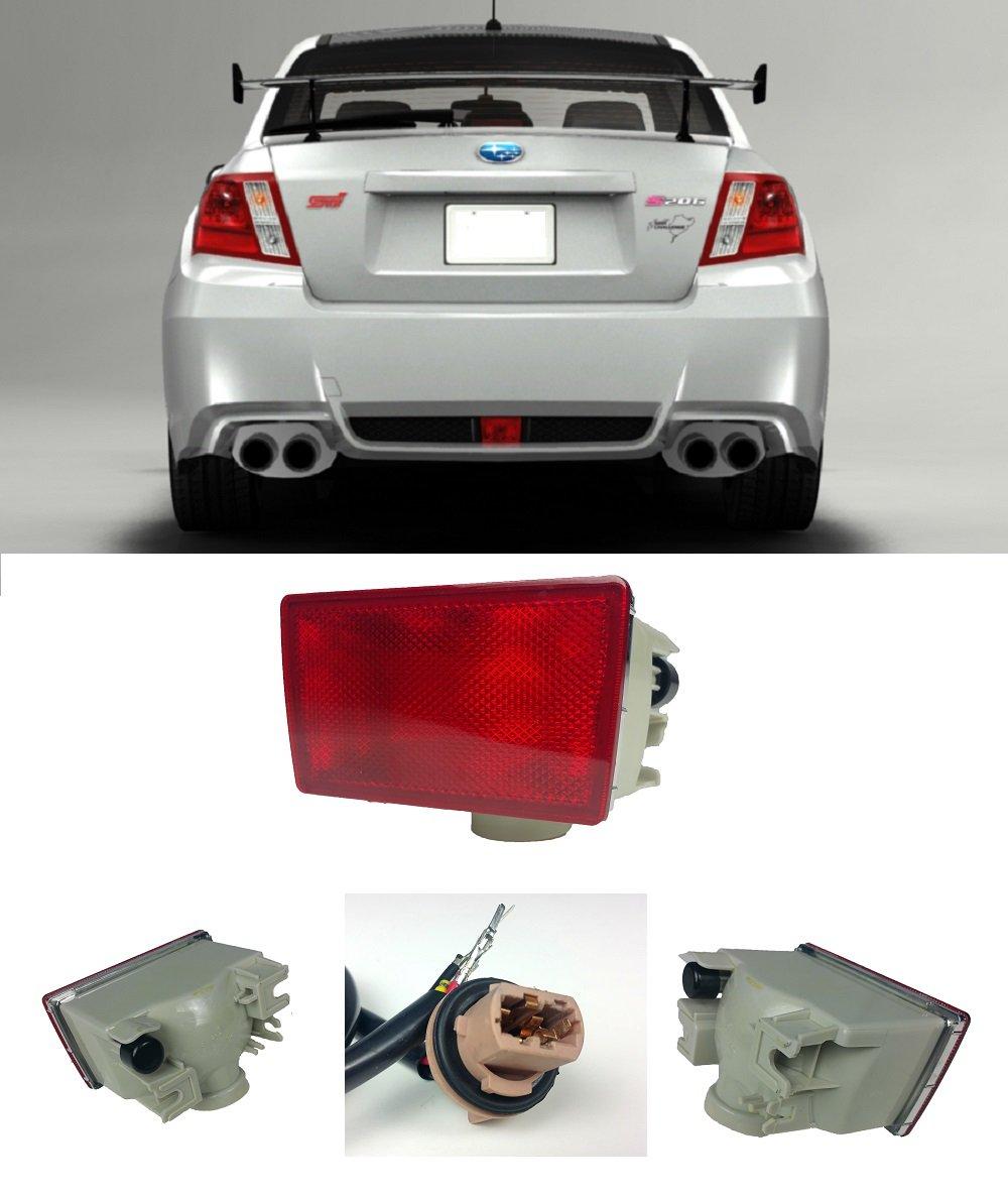 Vxmotor Jdm Red Lens Rear Fog Light Lamp For 11 Up Subaru Wiring Diagram Impreza Wrx Sti 13 15 Xv Crosstek Automotive