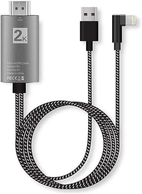 ASAITEKE Cable Adaptador de teléfono a HDMI, Adaptador AV Digital ...