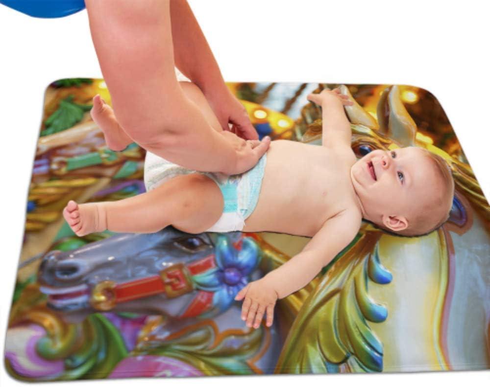 Colch/ón de la cuna de la cubierta de la almohadilla del cambio de pa/ñales floral del beb/é Floral cubierta de la tabla del cambiador de tela el/ástica infantil 32X 16
