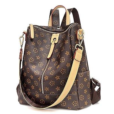 6d67a972bfb5 Amazon.com  Fayland Fashion Shoulder Bag Rucksack PU Leather Women Girls  Ladies Backpack Travel bag Mini Backpack Wallet Brown 1  Shoes