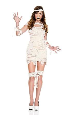 Miss Mummy Adult Costume - X-Small  sc 1 st  Amazon.com & Amazon.com: Miss Mummy Costume Sexy Miss Mummy Costume: Clothing
