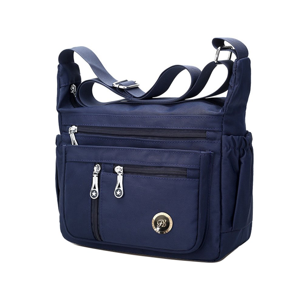 Fabuxry Purses and Shoulder Handbags for Women Crossbody Bag Messenger Bags (Navy)