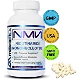 MAAC10 125mg NMN Nicotinamide Mononucleotide Supplement. The Most Powerful NAD+ Precursor More Stable Than Riboside. Supports DNA-Repair, Sirtuin Activation & Energy (30 Capsules).