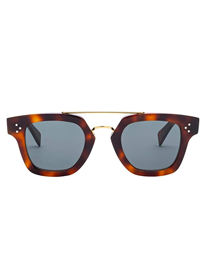 Céline Mujer Cl40024us53 Marrón Acetato Gafas De Sol: Amazon ...