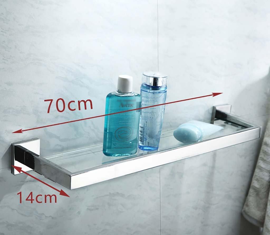 タオル掛け タオルラック単一層304ステンレススチールバスルームガラスの壁打ち抜きのインストール タオルスタンド (サイズ さいず : 70センチメートル) B07FGG57FL70センチメートル