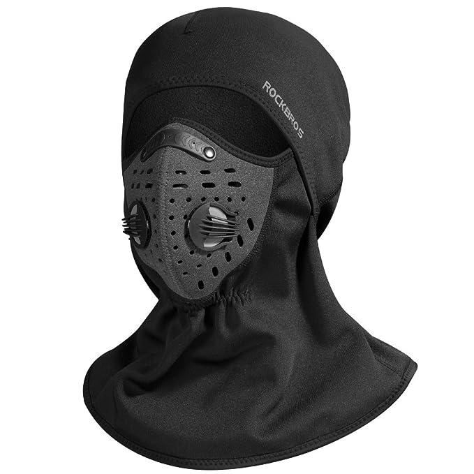 Amazon.com: RockBros - Máscara de esquí, forro polar, para ...