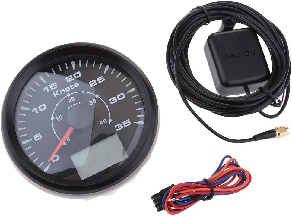 85mm 30 Knot Marine Boat GPS Speedometer Waterproof Digital Gauge Chrome