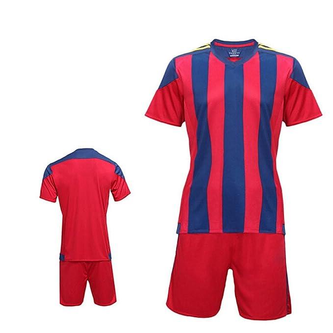sudadera fútbol jersey polos equipo casa/hogar/lejos uniforme deporte con calidad buena rojo and azul Stripe 4XL: Amazon.es: Ropa y accesorios