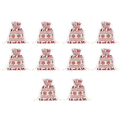 SUPVOX 10pcs bolsas de cordón de navidad bolsas de regalo de ...