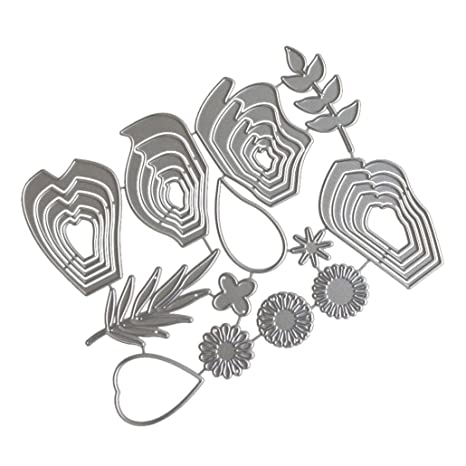 Heart box Metal Cutting Dies Stencil for DIY Scrapbook Album Paper Cards  X