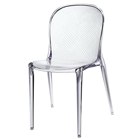 Brilliant Amazon Com Acrylic Side Chair Clear Stackable Chair Indoor Spiritservingveterans Wood Chair Design Ideas Spiritservingveteransorg
