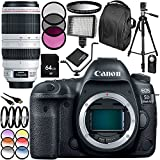 Canon EOS 5D Mark IV DSLR Camera with EF 100-400mm f/4.5-5.6L IS II USM Lens 28 PC Accessory Bundle - Includes 64GB Memory Card + 3PC Filter Kit (UV-CPL-FLD) 6PC Multicolored Filter Set + MORE