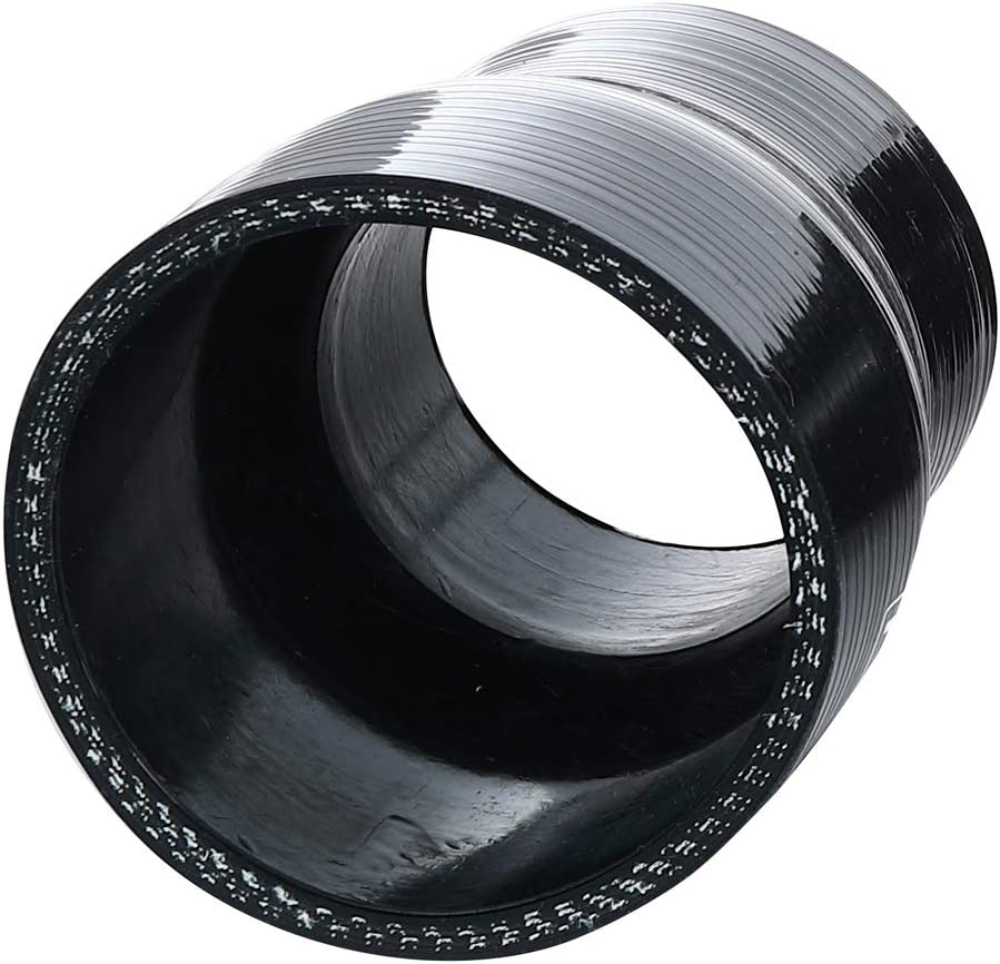 No Logo ID 3 Universal Automotive Pure Silicone Hose Wall Thickness 0.18 3-Ply Reinforced 4.5mm 45 Degree Elbow Coupler Black 80 PSI Maximum Pressure 90mm 76mm Leg Length 3.5