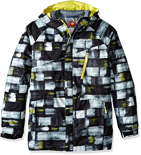 Columbia Boys Whirlibird Interchange Jacket, Medium, White Print