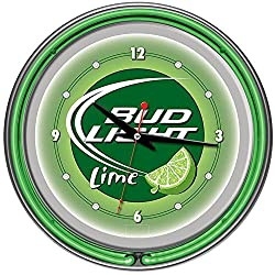 Bud Light Lime 14-in. Neon Wall Clock