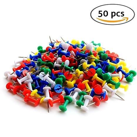 100/puntine con disegno colorato plastica cancelleria per bacheca in sughero