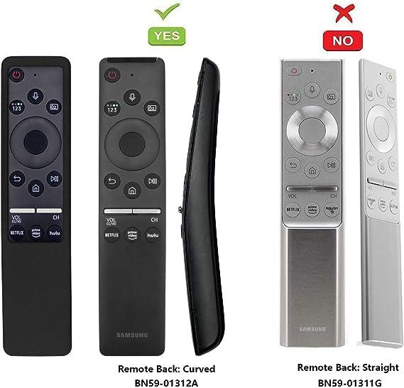 SIKAI Funda Compatible con Mando de Samsung UHD 4K Smart TV Bluetooth Remote Control RMCSPR1BP1 / BN59-01312A Antideslizante Protectora (Negro): Amazon.es: Electrónica