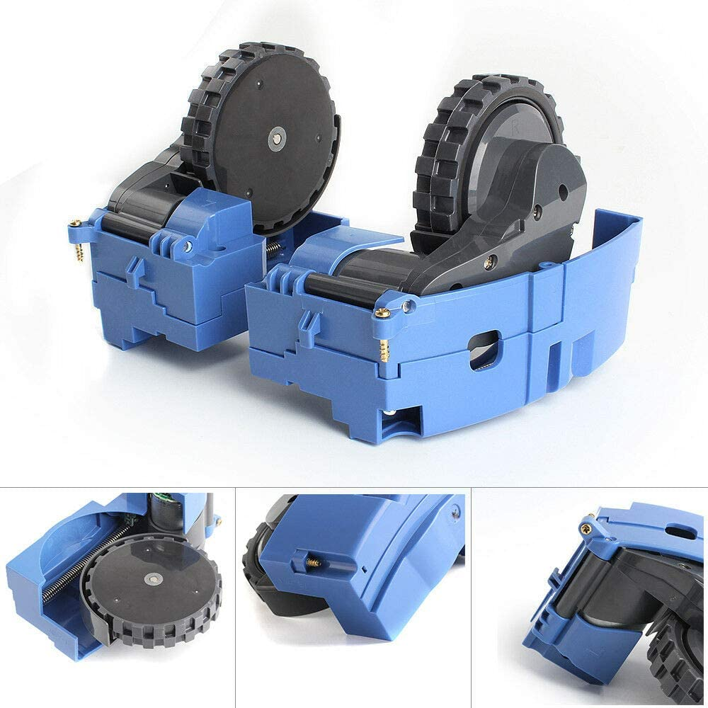 Oyster-Clean Replacement Wheels and Tires Module for iRobot Roomba 860 870 880 890 960 980 (Left & Right)