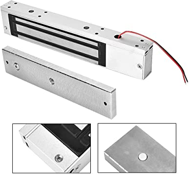 Single Door Electromagnetic Gate Lock with Integrated Electric Magnetic Lock 12V 280kg with LED Light