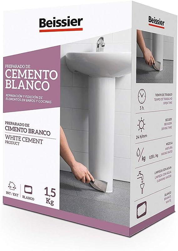 5448B11 - Cemento blanco aditivado para cerámica Beissier 1,5 kg: Amazon.es: Belleza