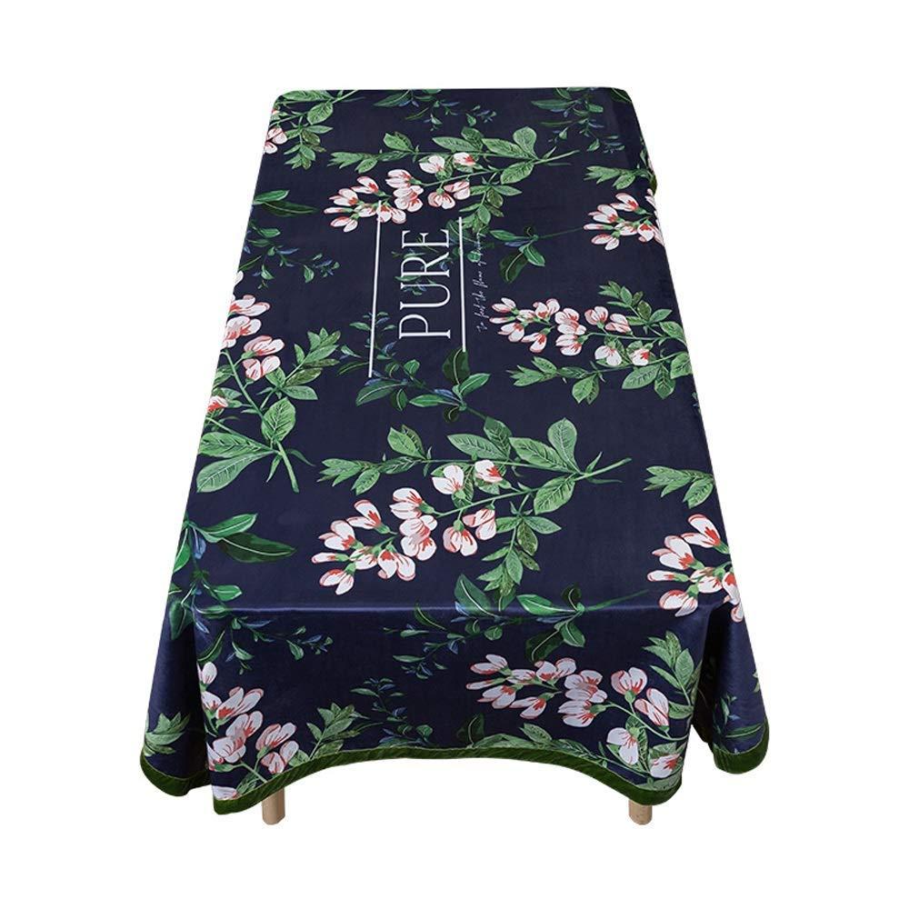 SCJ 古典的な花と鳥のタッセル家のダイニングテーブルクロス/コットンリネン長方形のコーヒーテーブルテレビキャビネットテーブルクロス/(長方形 - 55 'x 94.5')(色:A、サイズ:55 * 94.5インチ) 55*94.5inch A B07S5ZQY9D