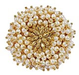 MUCH-MORE Indian Traditional Style Amazing Gold Tone Polki Finger Ring Partywear Jewelry (670)