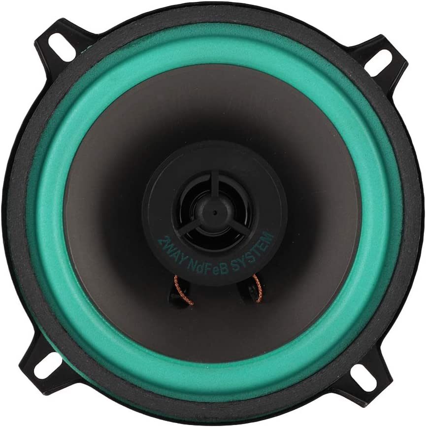 Heitamy Car Loud Speaker 5 Inch 100W Car Tweeter Super Power Loud Speaker Car Audio Loudspeaker Vehicle Door Music Audio Speakers
