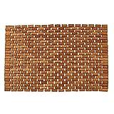 "Teak Bath Floor Shower Mat - Solid OR Foldable - Indoor/Outdoor Anti-Slip - Hand Made Eco Friendly Premium Teak Wood - Luxury Shower Spa Mat by Maxtir (Natural Teak Foldable Mat, 27.5"" x 20"" x 0.25"")"
