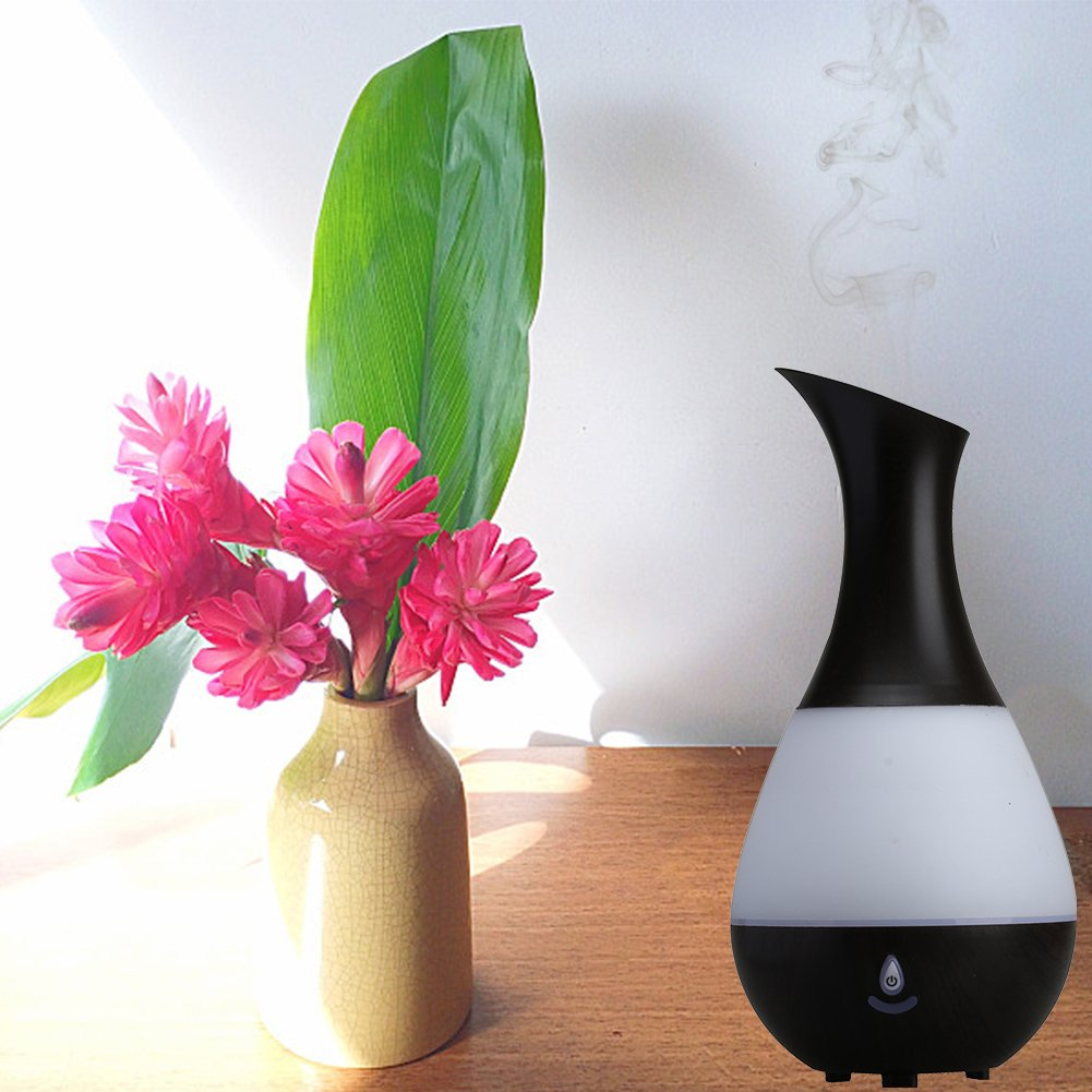 Kovoda Essential Oil Diffuser, Aroma Diffuser Portable Ultrasonic Cool Mist Humidifier with 7 Color LED Lights, Vase-Shaped Mist Mode Adjustment for Home, Office, Bedroom, 235ml by Kovoda (Image #5)