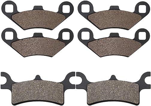 KMG Front Brake Pads for 2002-2006 Polaris 700 Sportsman 4X4 EFI Non-Metallic Organic NAO Brake Pads Set