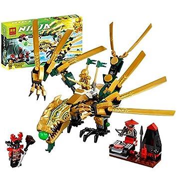 Amazon.com: 252pcs Bela 9793 juguete el dorado Dragon ...